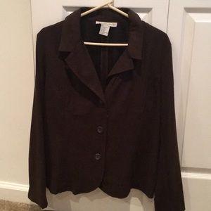 Dark brown semi business jacket